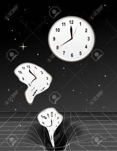 clock in a black hole